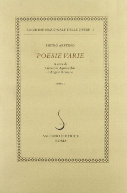 Poesie varie. Vol. 1 - [Salerno Editrice]