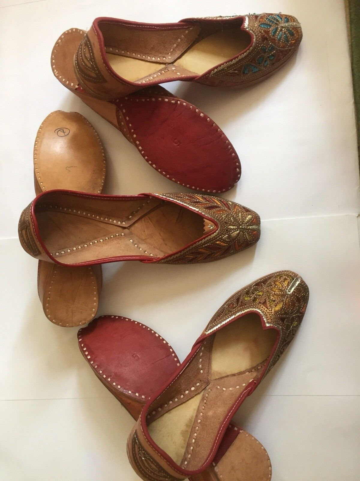 Ladies Soles Handmade Beach Flats Leather Soles Ladies 5 ,5.5 c4938f