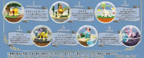 Re-ment Terrário Coleção 7 Pokemon Poke Ball caso Brinquedo Boneco 4 Unseen Novo