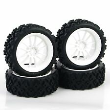4pcs Pp0487 DHNWG Rubber Tires Wheel Rim for RC 1/10 Rally Racing off Road Car