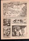 WWI Map Carte Sibérie Siberia Russia Russie China Chine Persia 1918 ILLUSTRATION