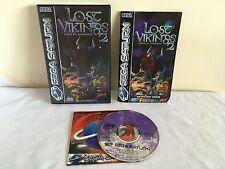 LOST VIKINGS 2 Sega Saturn GAME Pal COMPLETE ~ 1st CLASS P&P