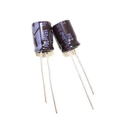 20pcs- 150uf 35v Radial Electrolytic Capacitor 35v150uf Nichicon HD