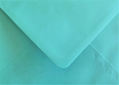 Turquoise Blue Envelopes C6 Gummed Flap Pearlescent 100gsm 50 Pack by Cranberry