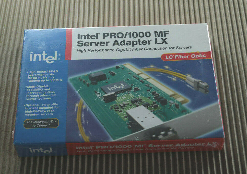 > Intel Pro/1000 MF Server Adapter LX High Perfomance Gigabit Fiber Connection <