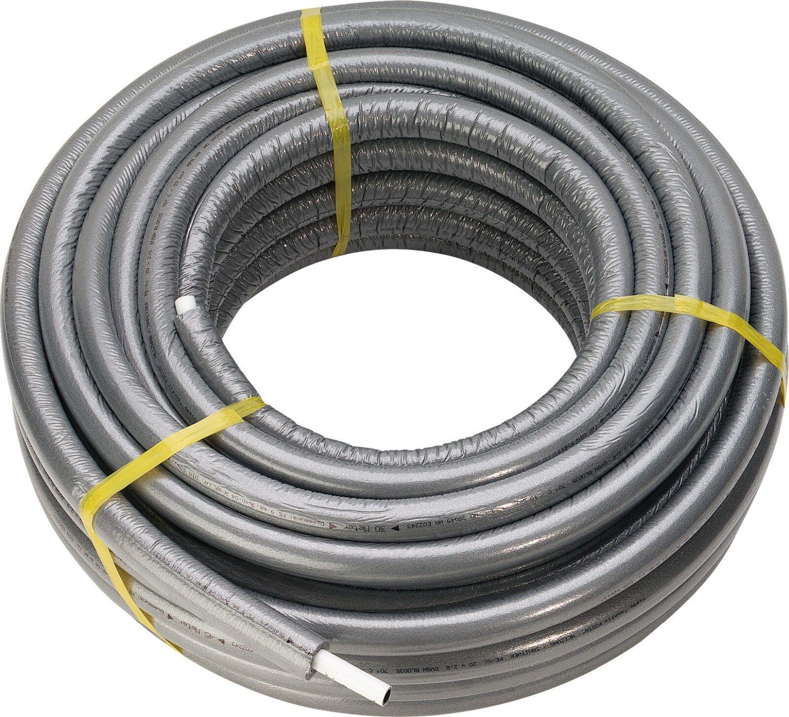 PE-Xc-Rohr Sanfix 16 x 2.2mm und 20 x 2.8mm je 50m m.9mm Dämmung  Isolierung