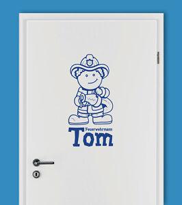 Feuerwehrmann Name Feuerwehr Kinderzimmer Aufkleber