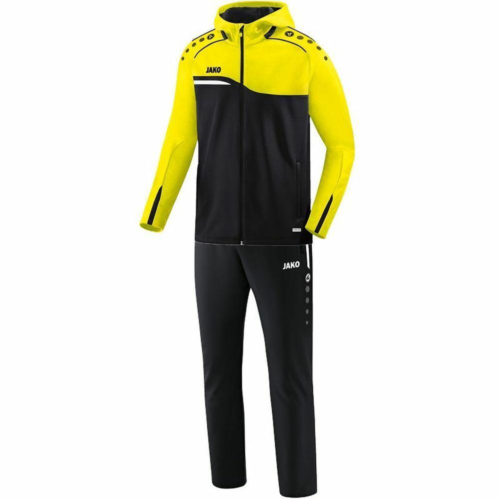Jako fútbol presentación traje competition 2.0 con capucha  señores negro amarillo  en venta en línea