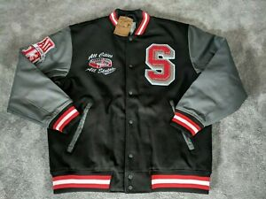 4b6ed2ed8 Details about Raw Blue Springfield Classic Varsity Jacket Black/Grey 2XL  *RRP £75*