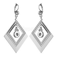 Handmade Rhinestone Crystal Charm Earrings fit Noosa 12mm Snap Button pair