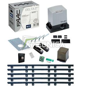 Kit-automazione-cancello-scorrevole-FAAC-DELTA-2-KIT-740-500-kg-5m-cremagliera