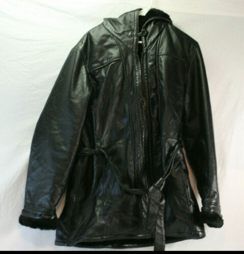 Belted Wilson Leather Jacket RN 69426 Genevieve Wo