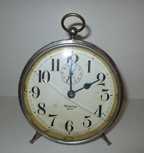 Antique-Westclox-Big-Ben-Peg-Legs-Alarm-Clock-Nickle-Plated-Store-1