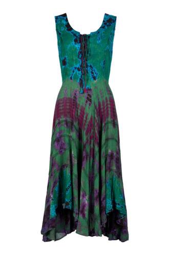 Nouveau Tie Dye Lacets Pagan style déesse Robe à taille plus
