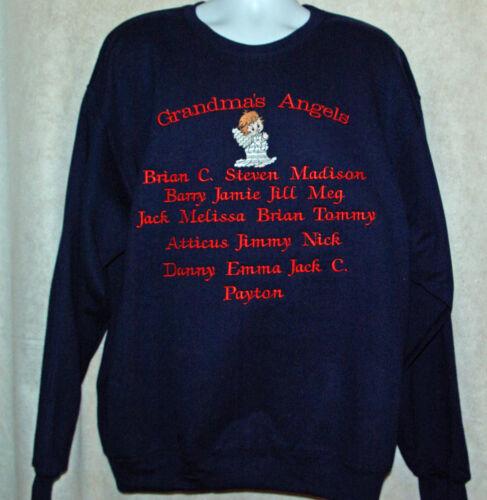 Custom Personalize With 18 Kids Names Grandma Sweatshirt S-5XL AGIFT 755