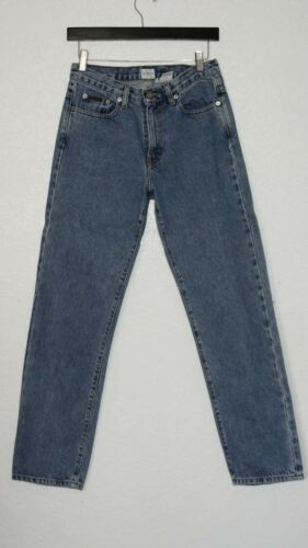Calvin Klein Woman's Blue Jeans Low Rider ZIP Fly