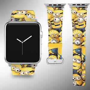 Minions Disney Apple Watch Band 38 40 42 44 mm Fabric