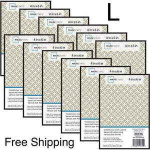 """New, Mainstays 4"""" x 6"""" Black Format Picture Frame, Set of 12. Free Shipping"""