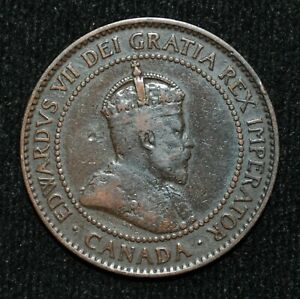 1907-H-Canada-One-Cent-VG-10