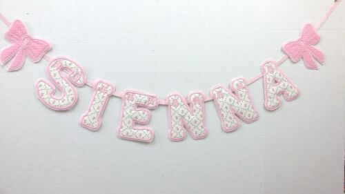 """PERSONALISED GIRLS NAME BUNTING//BANNER LETTERS LAURA ASHLEY FABRIC /""""KATE/"""""""