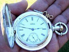 Antique Key Wind / Key Set Coin Silver Pocket Watch Waltham P.S. Bartlett