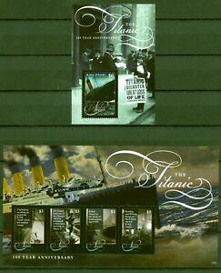 Style De Mode Nevis 2012-naufrage Du Titanic-navires-catastrophe - 2678-81 + Bloc 311