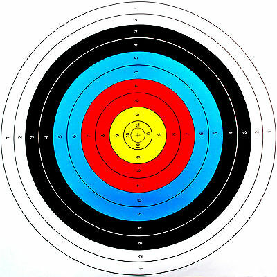 10X Archery Target Paper Face For Arrow Bow Shooting Hunting 40x40cm USA