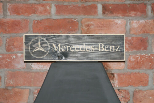 Mercedes Benz  Vintage Shabby Chic Wooden Sign Old Look Cars Retro
