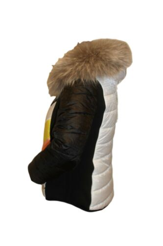 Veste tailles Black les Toutes Rub femme Kitzbühel Fur Sportalm ski Veste Real White de rZO0wqr