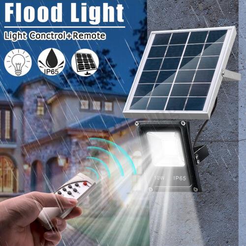 Remote Jardin Étanche 10W 20LED Lampe Solaire Projecteur Éclairage Floodlight