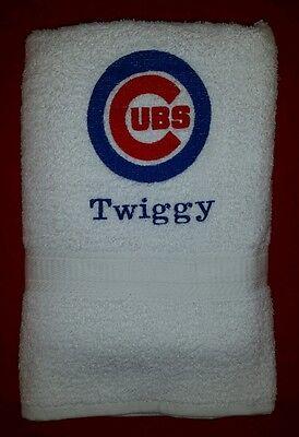CUSTOM PERSONALIZE CHICAGO CUBS BASEBALL MLB BATH GYM TOWEL
