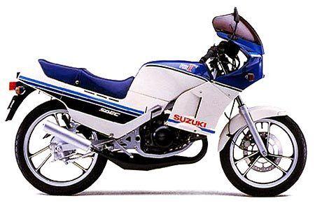 SUZUKI RG125 GAMMA COMPLETE PAINT DECAL SET 1985