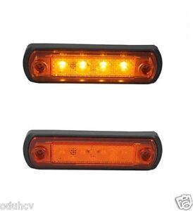 20 x Amber 6 LED 12 V Side Front Marker Light HGV Truck Lorry Motorhome Orange
