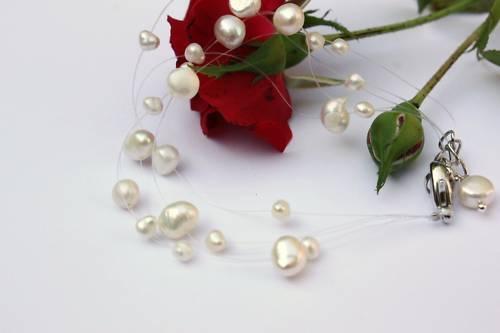 BAF Süßwasser Perlen Schmuck Perlenarmbänder Armschmuck Armbänder Brautschmuck