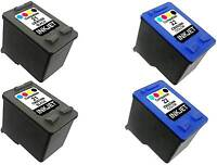 4PK FOR HP 21 22 HP21 HP22 C9351AN C9352AN PSC 1410XI  BLACK&COLOR COMBO