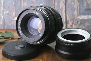 Sowjetische-Lens-BOKEH-Portrait-Helios-44m-2-58mm-UdSSR-Objektiv-Adapter-m42-Sony-NEX