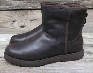 c1f08f6304a UGG Australia Womens Cory Leather Stout Classic Mini Sheepskin Boots ...