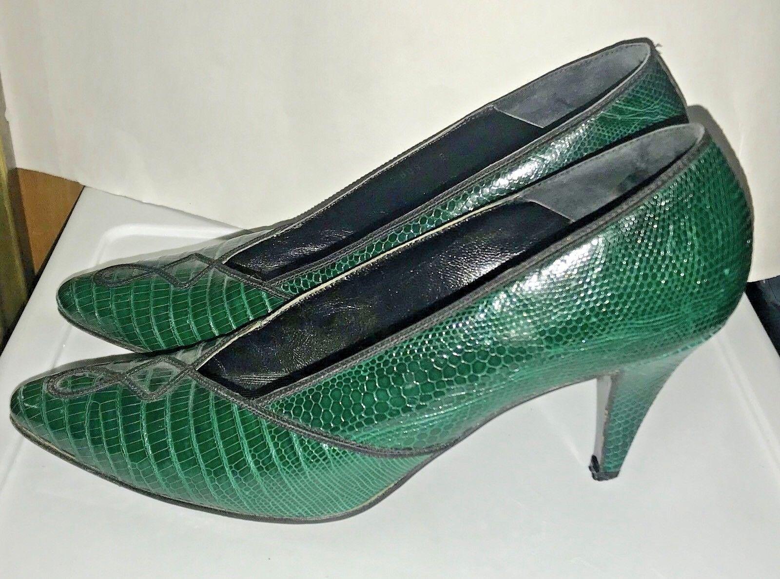 in linea Susan Bennis verde Multi Multi Multi Leather scarpe 8 B Original Owner Run Small  negozio fa acquisti e vendite