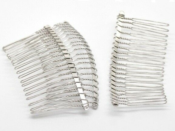 Pack of 10 Antique Bronze Hair Combs accessories Jewellery Findings 39mm x 26mm