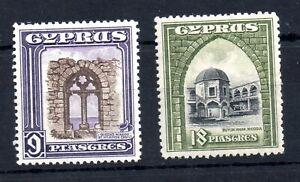 Cyprus-KGV-1934-9pi-amp-18pi-fine-mint-LHM-SG141-amp-SG142-WS19378