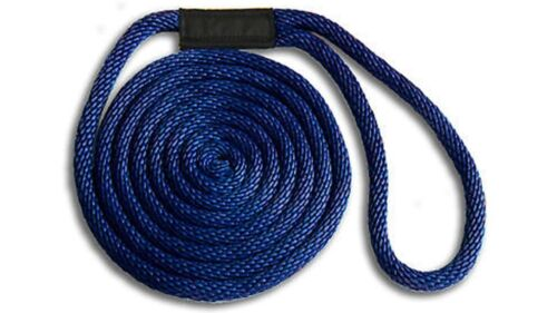 "NAVY BLUE Fade Proof USA MADE Solid Braid Nylon Dock Line  5//8/"" x 50/' Floats"