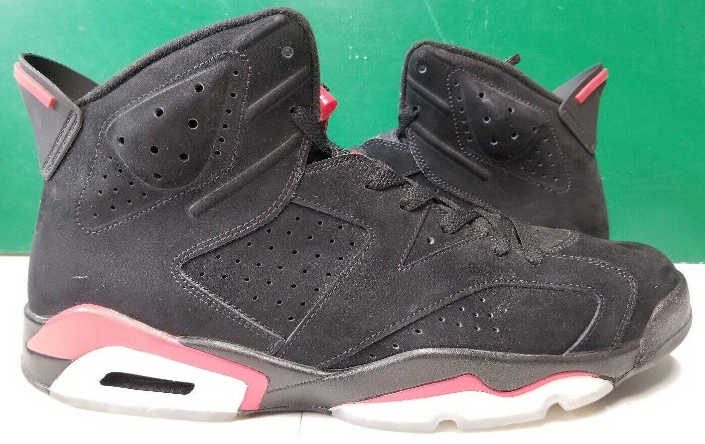 2009 Air Jordan Retro 6 men sz 13 black varsity red 384664-061
