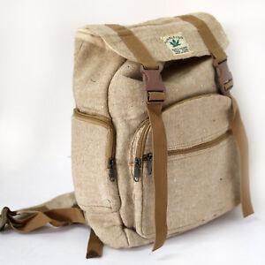 Hanf-Rucksack-Beige-Ethno-Backpack-Nepal-Hippie-Tasche-Beutel-Goa-Vintage-HR4