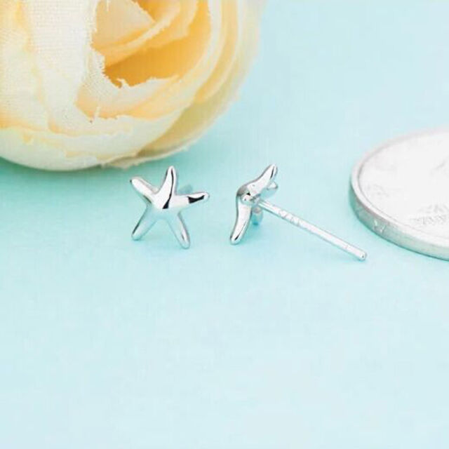 SALE SILVER PLATED FASHION Starfish HEART  pentagram EARRINGS y7aegr