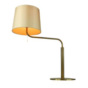 Tisch Leuchte LUXUS Vittsjö Schweden Messing Ausleger Lese Lampe Vintage 70er