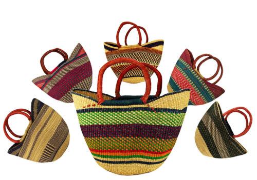 robusto cestello numero 1011 cesto di Bolga prodotto di mercato pelle in Africa Originale portaoggetti 0wEaqa