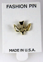6030332 Holy Spirit Decsending Dove 14kt Gold Plated Lapel Pin Brooch Tie Tac... on sale