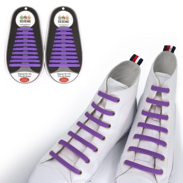 8664d72b2a1f Totomo Purple No-tie Elastic Shoelaces Silicone Tieless Shoe Laces ...