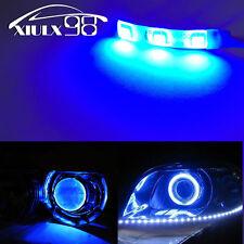10X For Projector Headlights Devil LED Strips Module Retrofit Demon Eyes Blue US