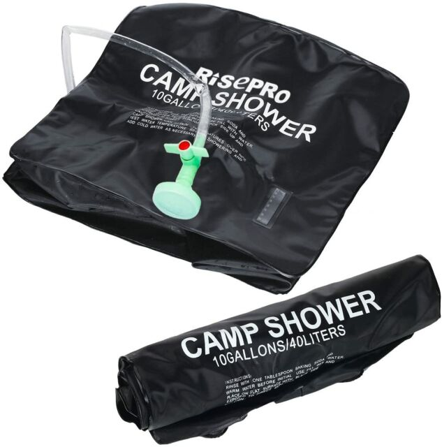 RISEPRO Solar Heating Shower Bag 10 Gallons 40 L Camping Hot Water 45°c XH07 for sale online